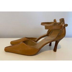 Stuart Wietzman Vintage Leather Pointed Toe Heels